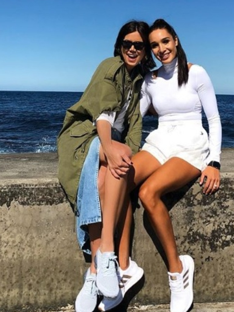 Ms Stevanja with fellow Aussie entrepreneur and personal trainer Kayla Itsines who boasts a massive 10.2 million Instagram followers.