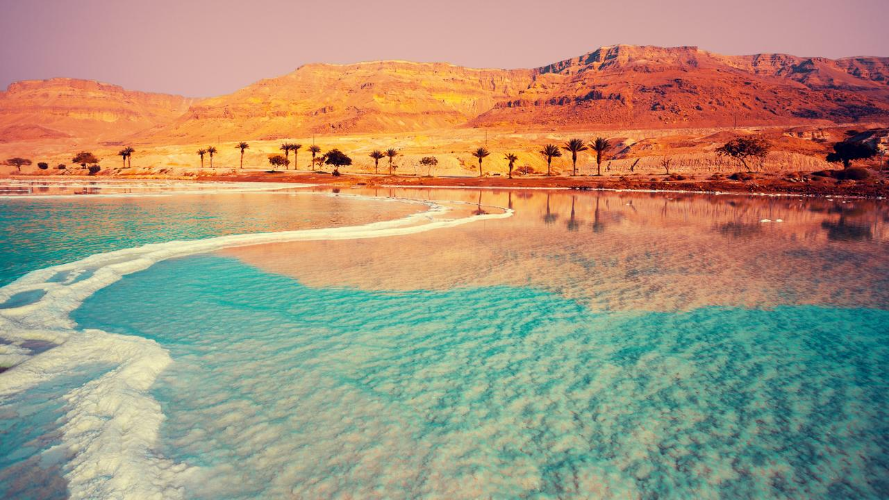 Dead Sea. See the salt in the water and the desert along the shoreline. Picture: iStock