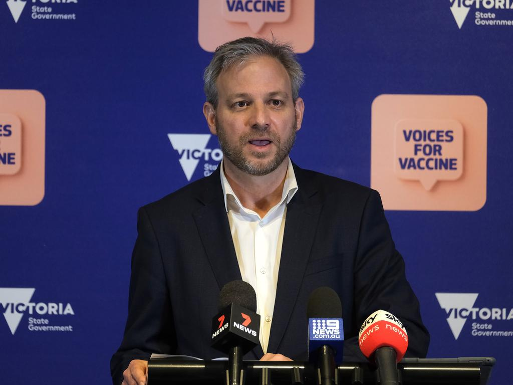 Victorian chief health officer Brett Sutton was named in the court case. Picture: NCA NewsWire / Luis Ascui