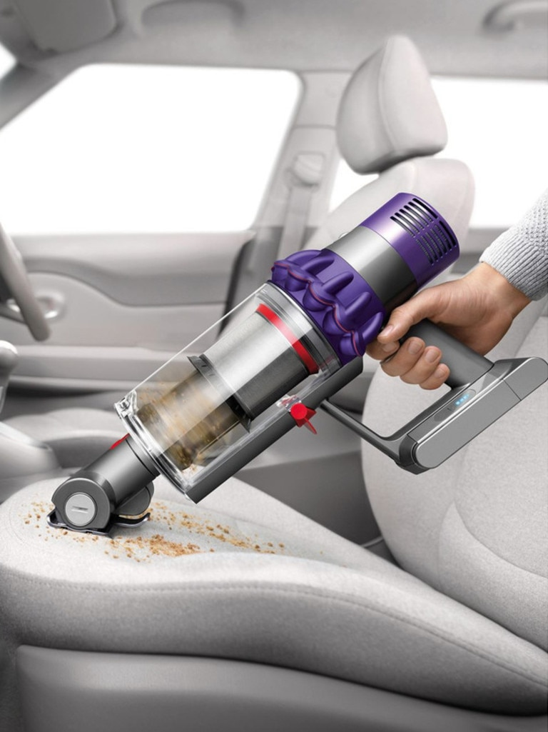 It also converts into a handheld vacuum in five seconds flat.