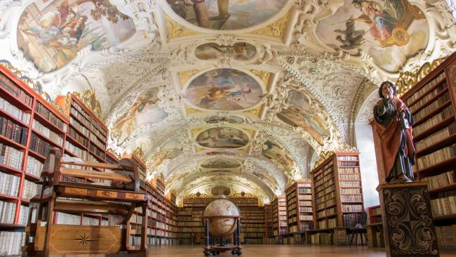 23/34Strahov Monastery Library, Prague Czech RepublicThe library of the Premonstratensian monastery has around 200,000 volumes and dates back to the 1670s.