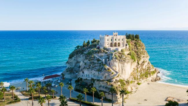 4/20Tropea Beach, Calabria, Italy 115 metres, 423 pictures per metre Live La Dolce Vita on this stretch of sand which sits at the foot of cliffs atop which the town is perched. The Tyrrhenian Sea location is part of the Costa degli Dei - AKA the 'Coast of the Gods'. Yeah, we get that.