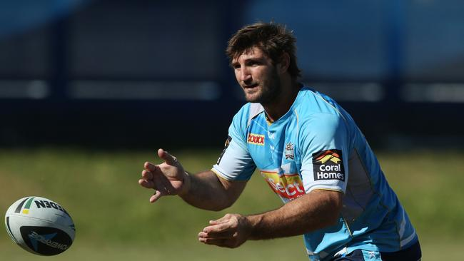 Dave Taylor at training ahead of Sunday's clash with the Raider. Picture by Scott Fletcher