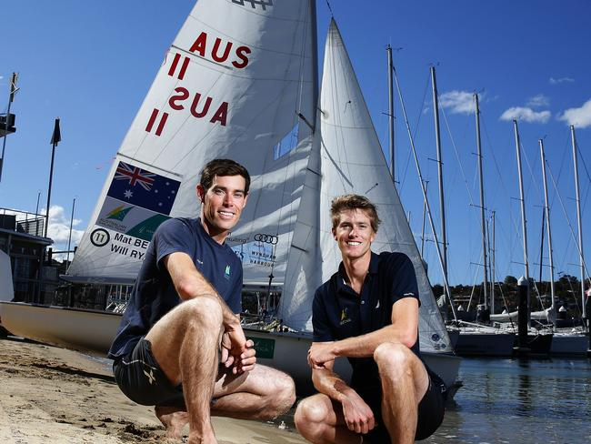 Mat Belcher and Will Ryan before the Rio Olympics. Belcher has won four of his seven world titles with Ryan.