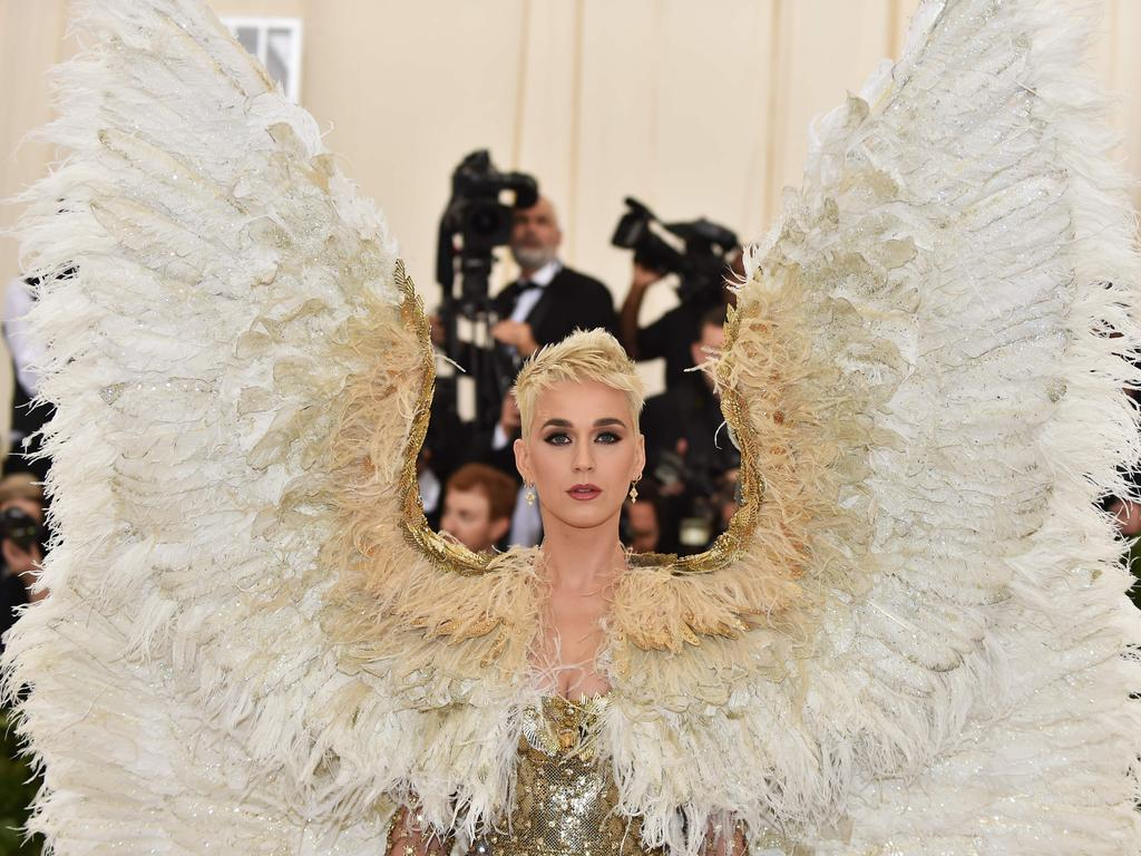 Katy Perry made wuite the entrance at last year's Met Gala. Picture: AFP