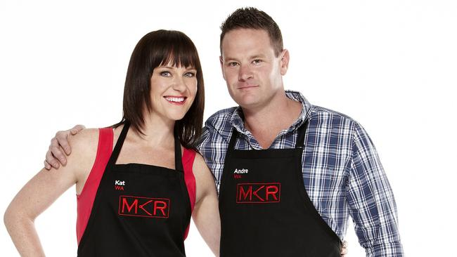 In love ... Kat and Andre are set to compete in the 2015 season of My Kitchen Rules.