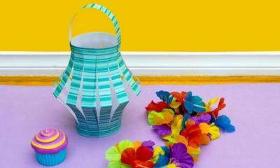 Easy paper lantern craft