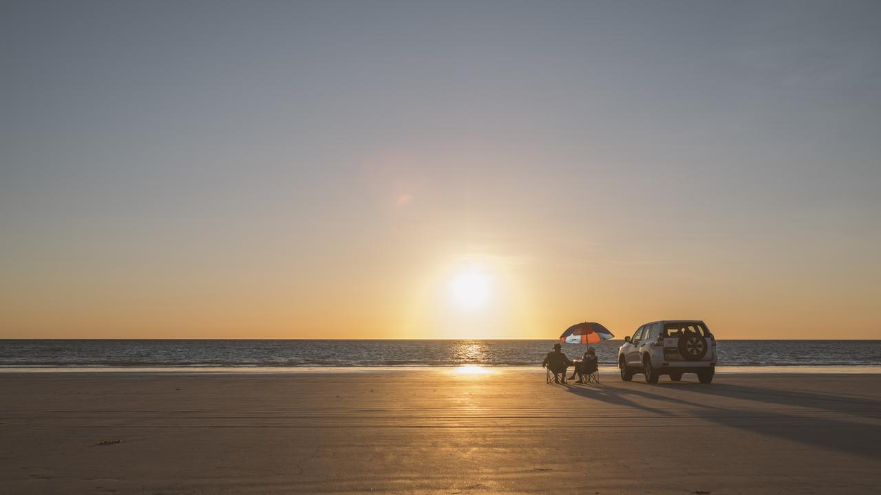 Enjoying the sunset on Cable Beach, Broome. Picture: Tourism Western Australia