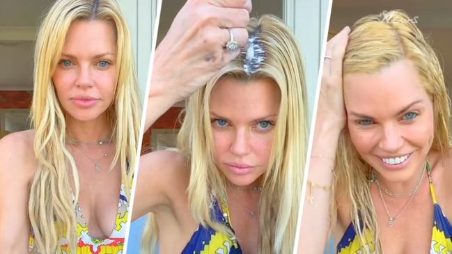 Sophie Monk attempts colouring regrowth with box hair dye