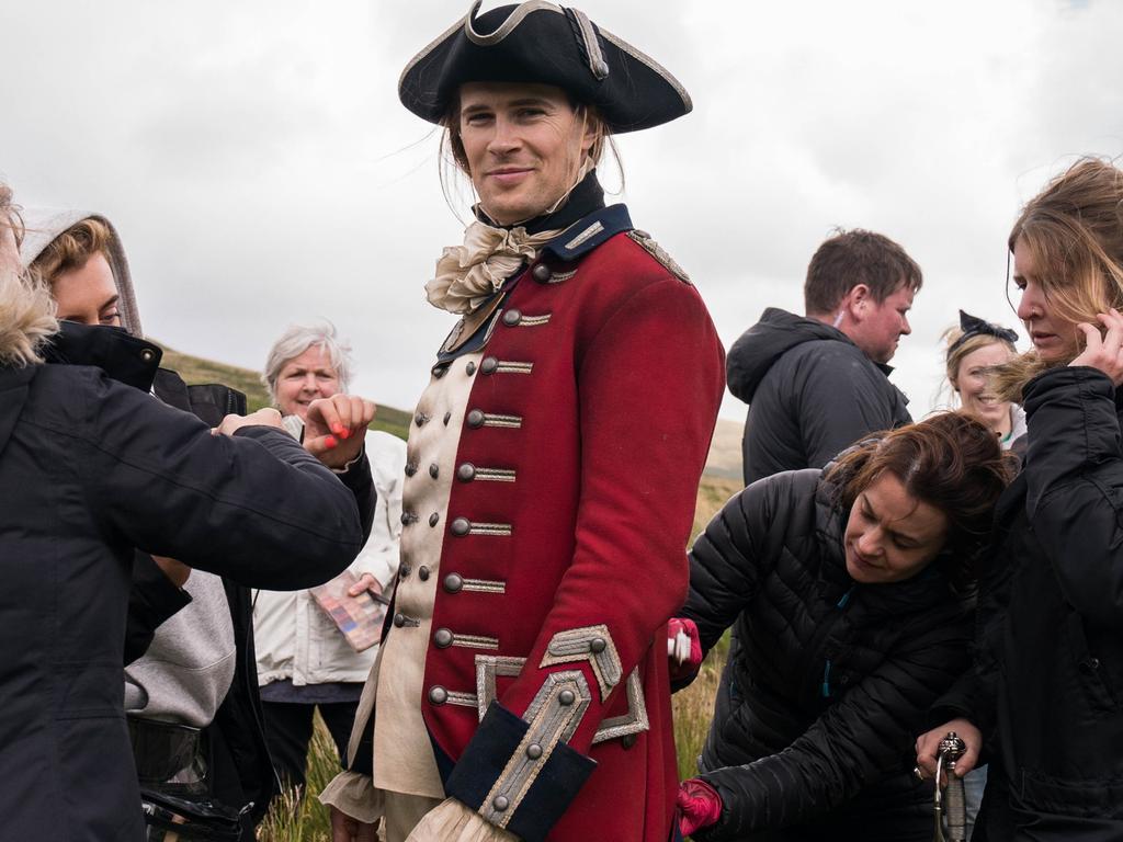 David Berry on set of Outlander, season 3.