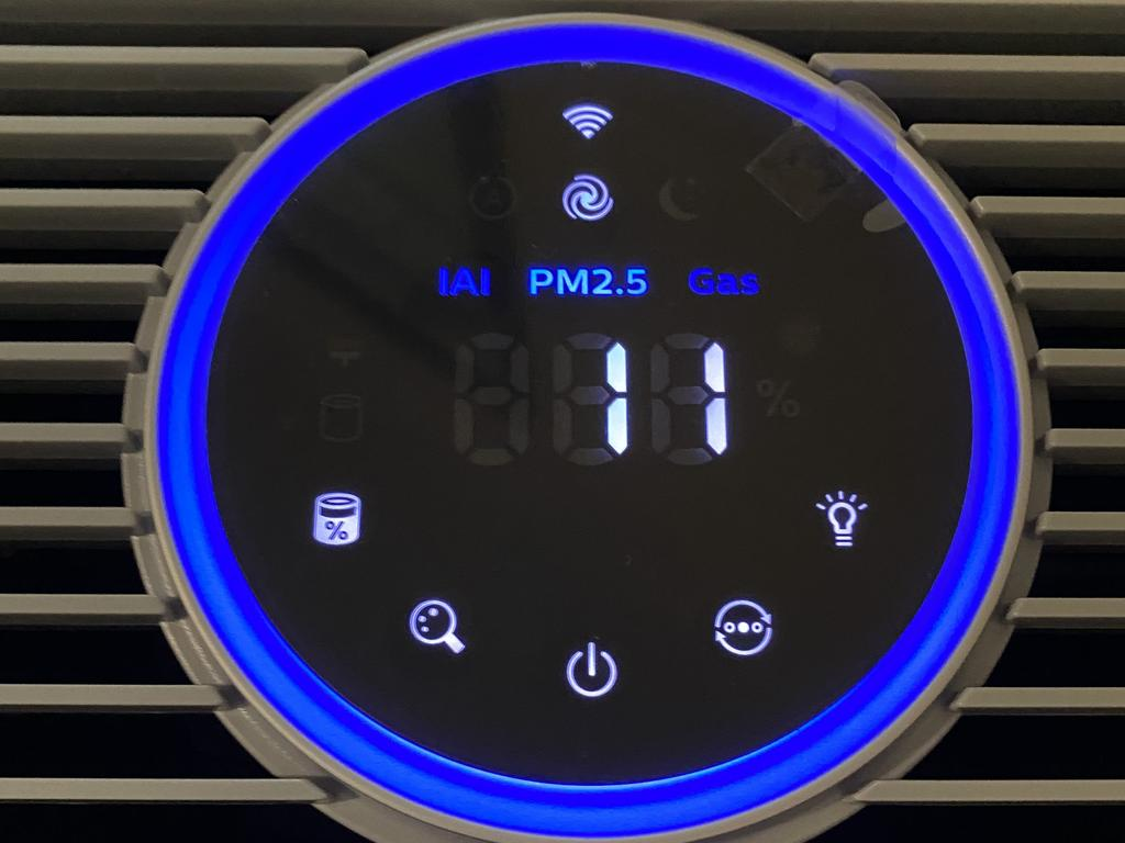 The air purifier results in Steph's house – well away from the city – were in the normal range.