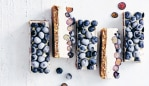 Vegan lemon and blueberry cheesecake by Jessica Sepel