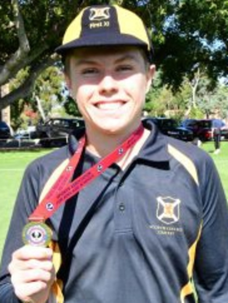 Scotch College cricketer Jed Obst. Picture: Supplied, Sports Association Adelaide Schools