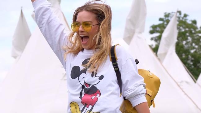 Margot Robbie attends Glatsonbury festival in style