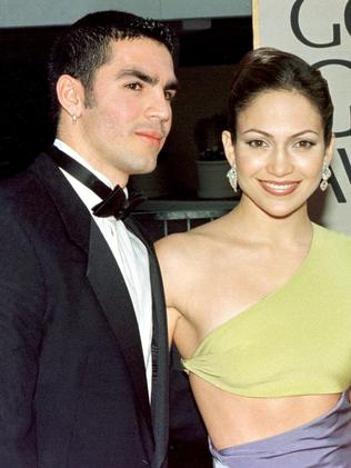Jennifer Lopez and first husband Ojani Noa split in 1998 after being married barely a year. Picture: AFP