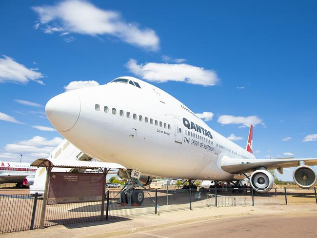 "7. QANTAS FOUNDERS MUSEUM, LONGREACH ""The museum tells the story of Australia's most famous airline from the early days to the Qantas we know today. The hero experience here is taking a tour of the jumbo jet – it was just incredible to see it up close!"" Picture: Sean Scott"