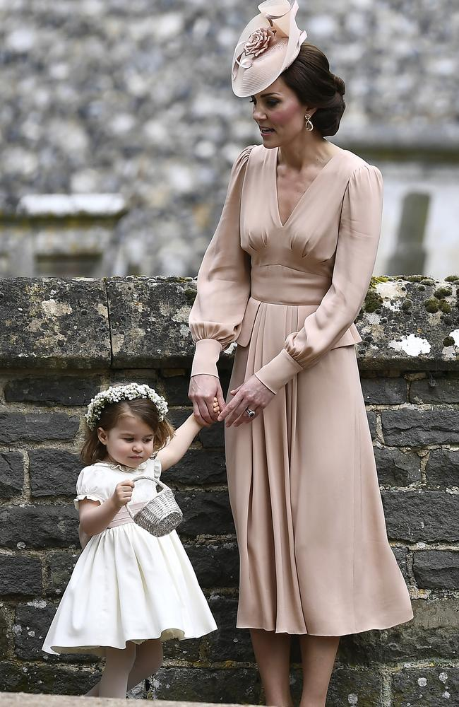Kate, the Duchess of Cambridge with her daughter Princess Charlotte. Picture: Justin Tallis/Pool Photo via AP