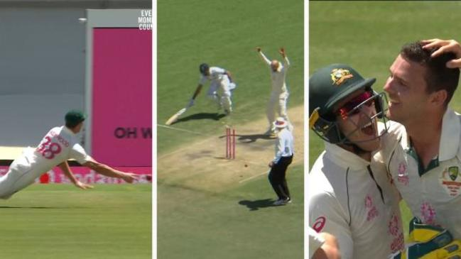 Josh Hazlewood's spectacular run out from all angles