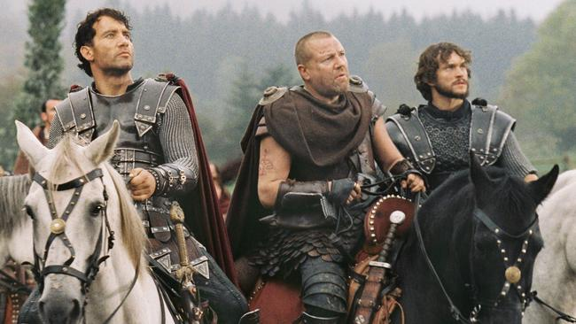 King Arthur and his chivalrous knights ... Historians have long thought there may be history buried in the myth of King Arthur. Was he the last leader of a remote place that managed to cling on to the refinements of Roman civilisation long after the collapse of the Empire? Picture: The 2004 film King Arthur.