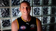 Adelaide Crows ruckman Sam Jacobs set to play his 100th game against West Coast. Photo Sarah Reed.