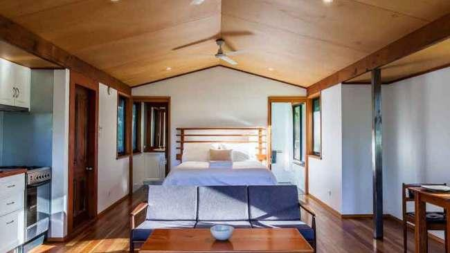 10/14Worrowing Wilderness Hut, Jervis BayWorrowing Wilderness Hut is set on a historic 250-acre coastal farm property facing the Jervis Bay National Park. The eco hut offers uninterrupted views of the bush; tall gum, ironbark and paperbark trees, which is home to an abundance of wildlife including kangaroos and wallabies. Built using reclaimed timbers and raw corrugated iron, the Hut puts eco-conscious thinking first. https://www.worrowing.com.au/