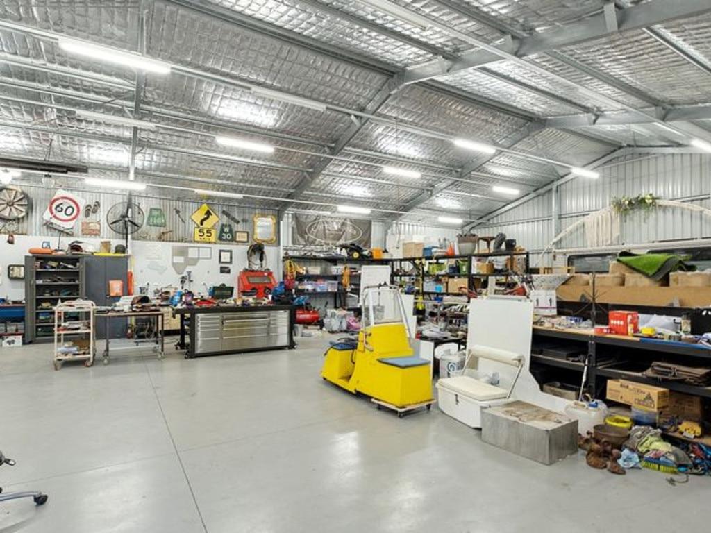 The huge workshop.