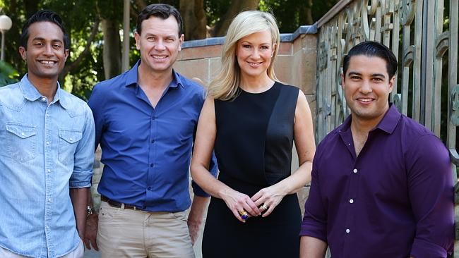 Star power ... Jeremy Fernandez, Mark Ferguson, Melissa Doyle and Marc Fennell have contributed to Reach Out's 'There's Life After Year 12 Exams' campaign. Picture Cameron Richardson