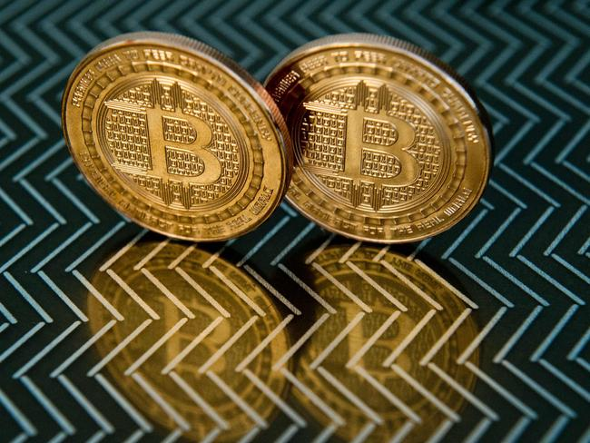 Bitcoin's stratospheric rise follows the digital currency's embrace by mainstream trading platforms. Picture: AFP/ Karen Bleier
