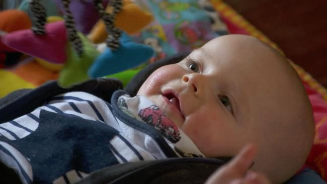 Worth the wait: Baby Liam Supplied by Channel 9