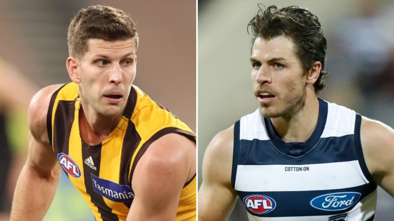 Luke Breust and Isaac Smith will meet as opponents for the first time in their AFL careers.