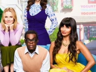 Jameela Jamil's image has not been edited in this billboard for 'The Good Place': Image: 'The Good Place'/NBC