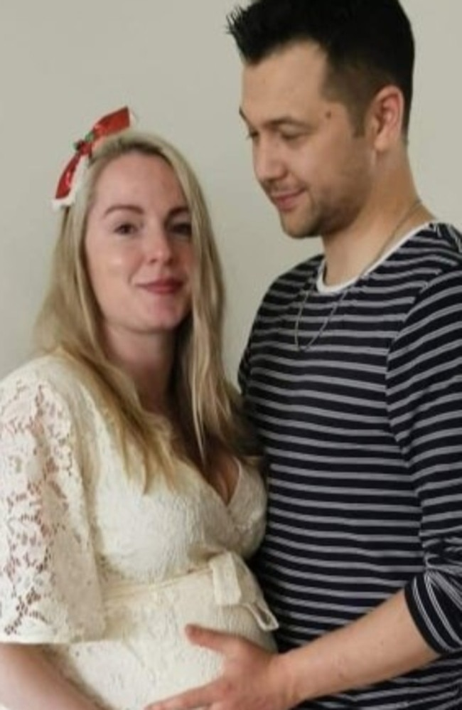 Their daughter Isabelle is due in May. Picture: GoFundMe