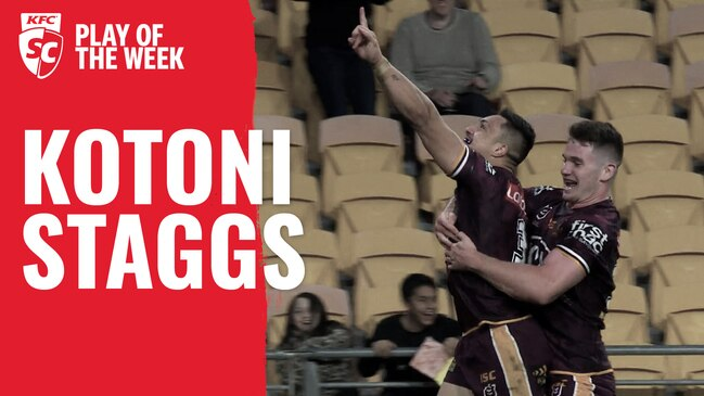 KFC SuperCoach NRL Play of the Week: Staggs burns the Dragons