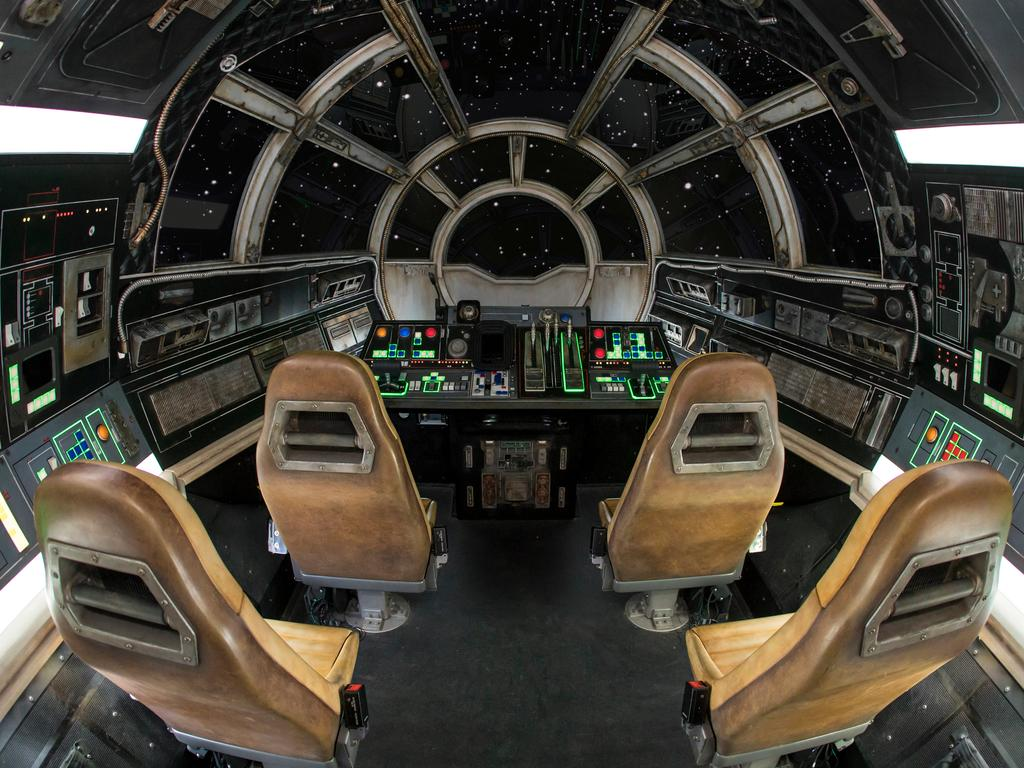 Inside Millennium Falcon where guests will take the controls in one of three unique and critical roles aboard the fastest ship in the galaxy. Picture: Joshua Sudock/Disney Parks.