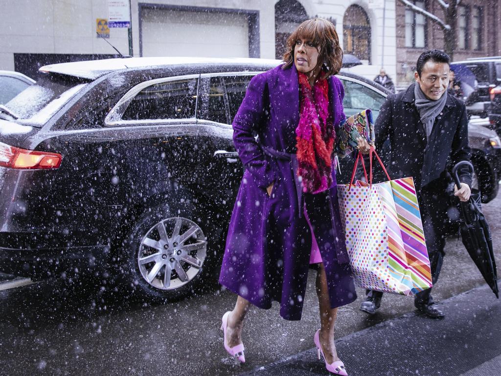 TV host Gayle King arrives. Picture: AP Photo/Kevin Hagen