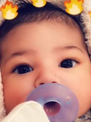 Stormi Webster. Picture: Snapchat