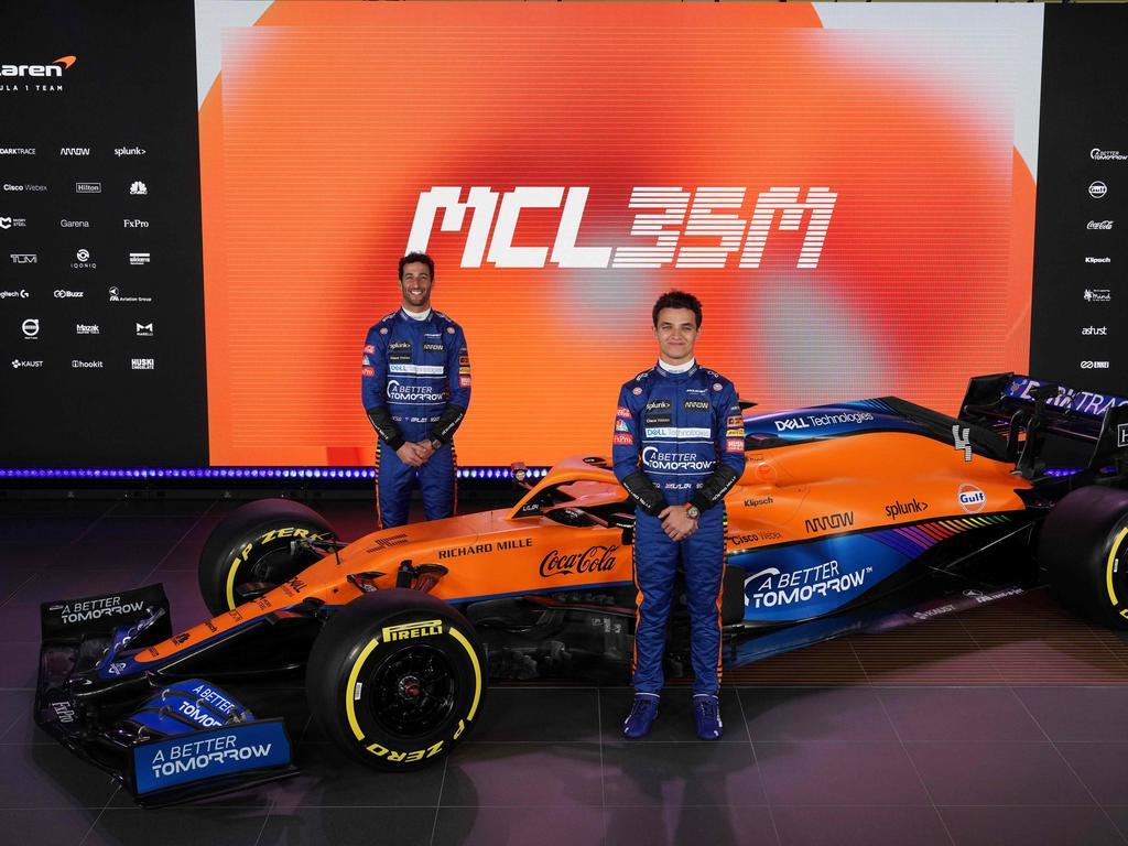 McLaren's British driver Lando Norris (R) and Australian driver Daniel Ricciardo.