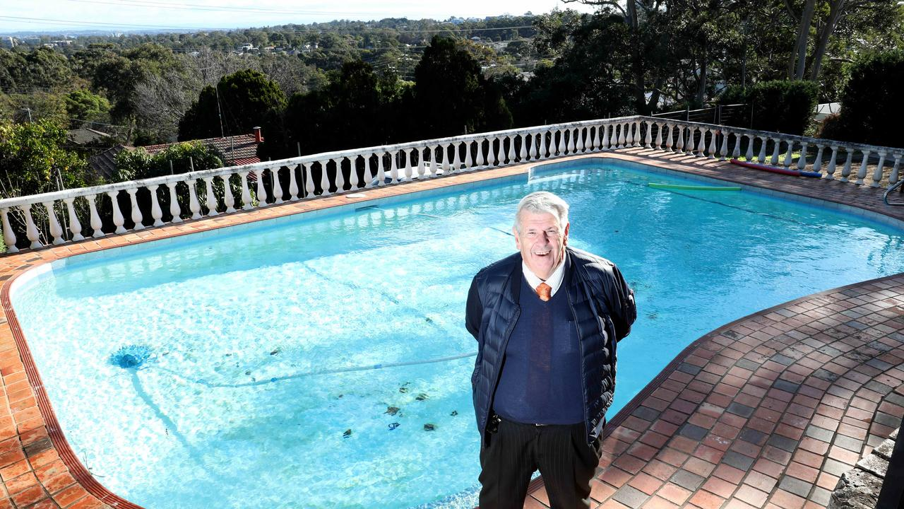 Max Pracy from Tracy Yap Realty is selling a pool that was subdivided off the neighbouring block. Picture: Damian Shaw