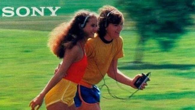 In the '90s, everybody roller bladed while sharing a walkman.