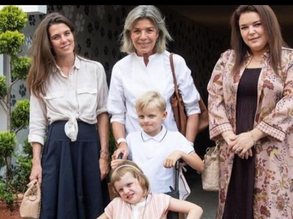Princess Caroline (centre back) has embraced the grey.