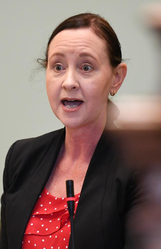 Queensland Health Minister Yvette D'Ath speaks during Question Time at Parliament House in Brisbane on Wednesday. Picture: NCA NewsWire / Dan Peled