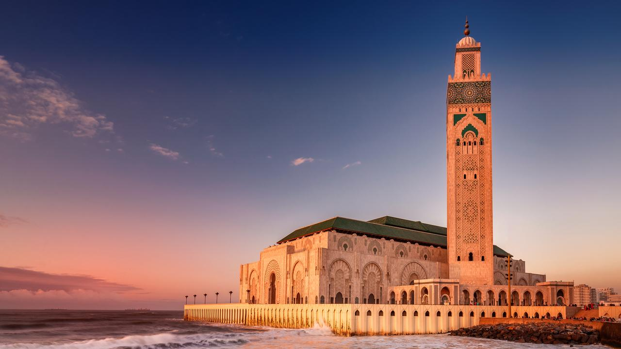 See the Hassan II Mosque in Casablanca, Morocco.