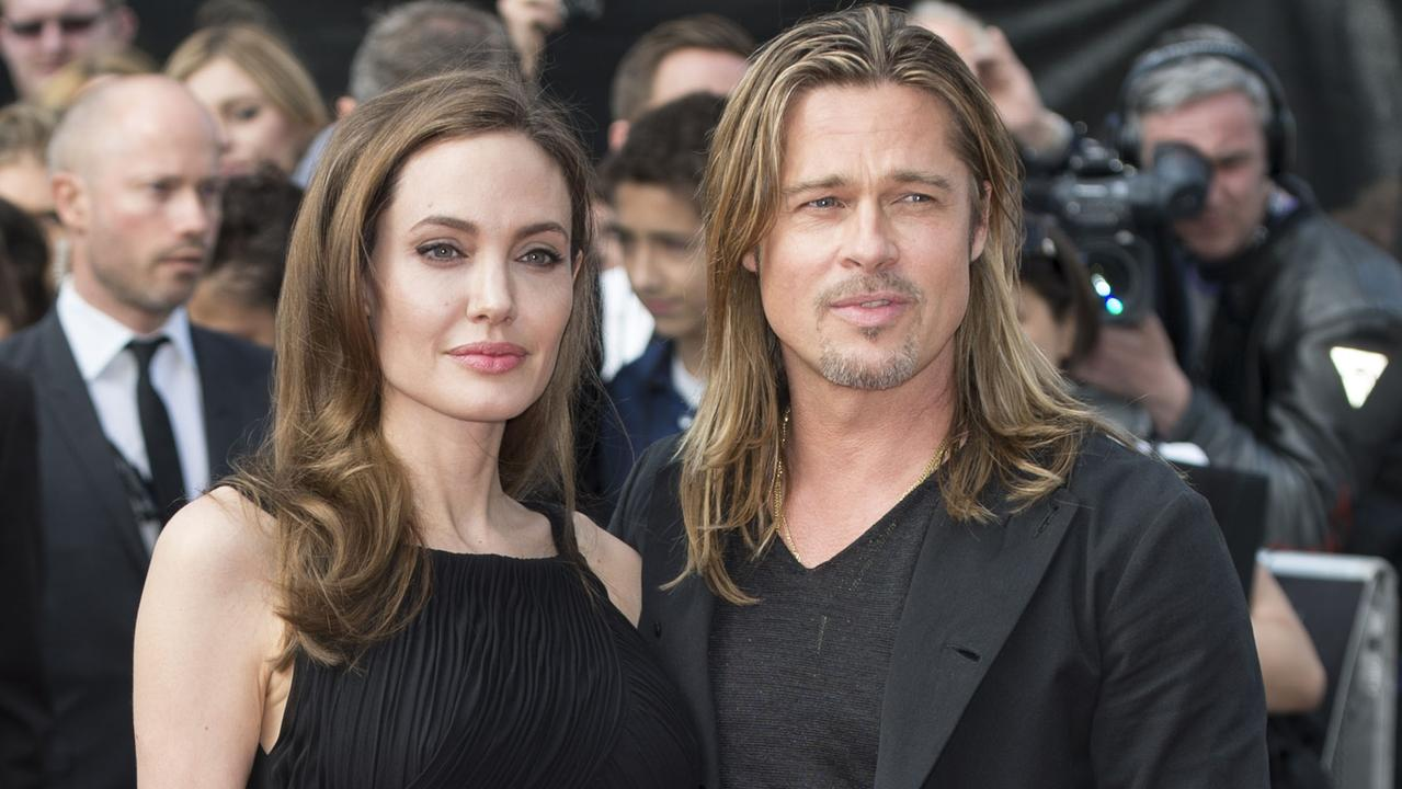 The stars met on the set of 2005 movie Mr and Mrs Smith, when Pitt was still married to Jennifer Aniston. Picture: Mark Cuthbert/UK Press via Getty Images