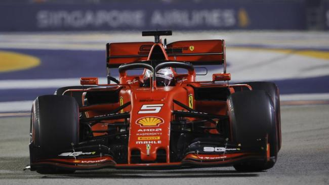 Sebastian Vettel claimed his first win in over a year.