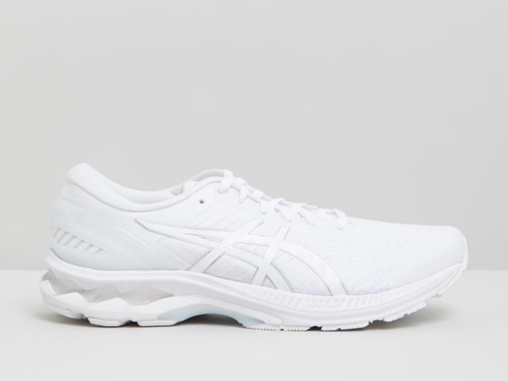 Asics GEL-Kayano 27 running shoes.