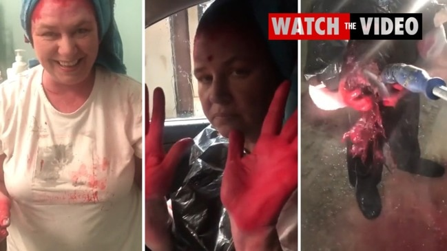 TikTok user @theonlykeef uploaded a video of his mum's unusual hair dye technique and it instantly went viral.