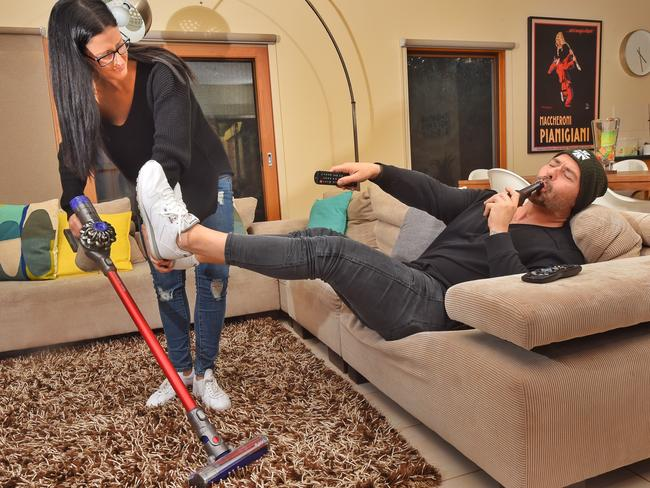Men might think they've stepped up, but in reality women are still doing most of the domestic work. Picture: Tony Gough