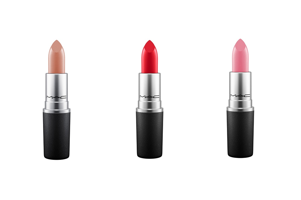 M.A.C lipsticks in M.A.C Red, Cherish and Lovelorn. Image credit: supplied