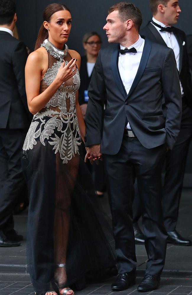 Luke Shuey and partner Danielle Orlando. Picture: Getty