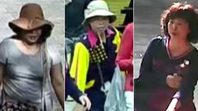 The three women police want to talk to. Picture: WA Police